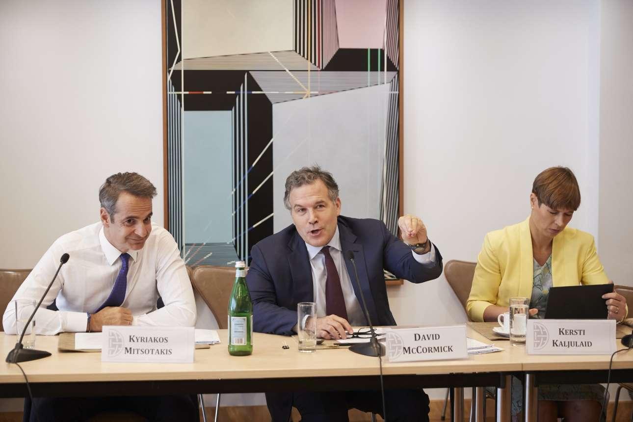 Κατά τη συμμετοχή του στη συνεδρίαση του International Advisory Board (IAB) την Τρίτη 24 Σεπτεμβρίου