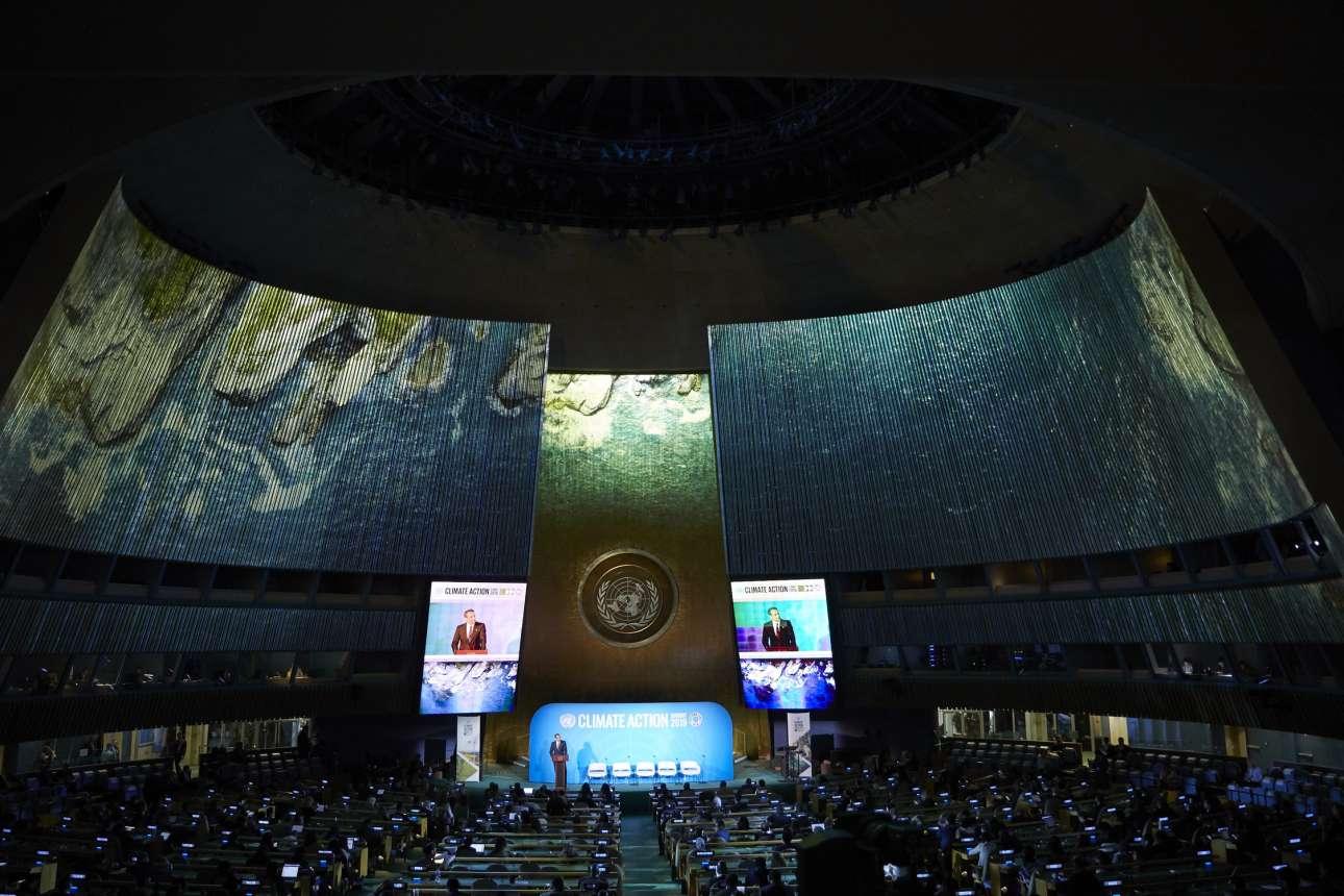 Στο βήμα της συνόδου του ΟΗΕ για το Κλίμα τη Δευτέρα 23 Σεπτεμβρίου