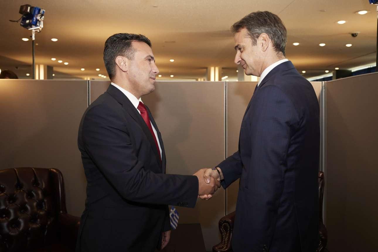 H από πολλές απόψεις ενδιαφέρουσα συνάντηση με τον πρωθυπουργό της Βόρειας Μακεδονίας Ζόραν Ζάεφ την Τρίτη 24 Σεπτεμβρίου