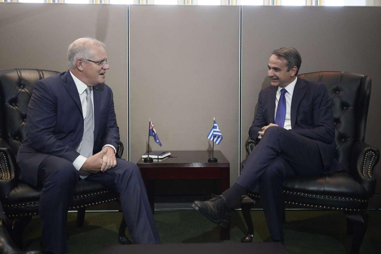 Στη συνάντηση με τον πρωθυπουργό της Αυστραλίας Σκοτ Μόρισον, την Τρίτη 24 Σεπτεμβρίου