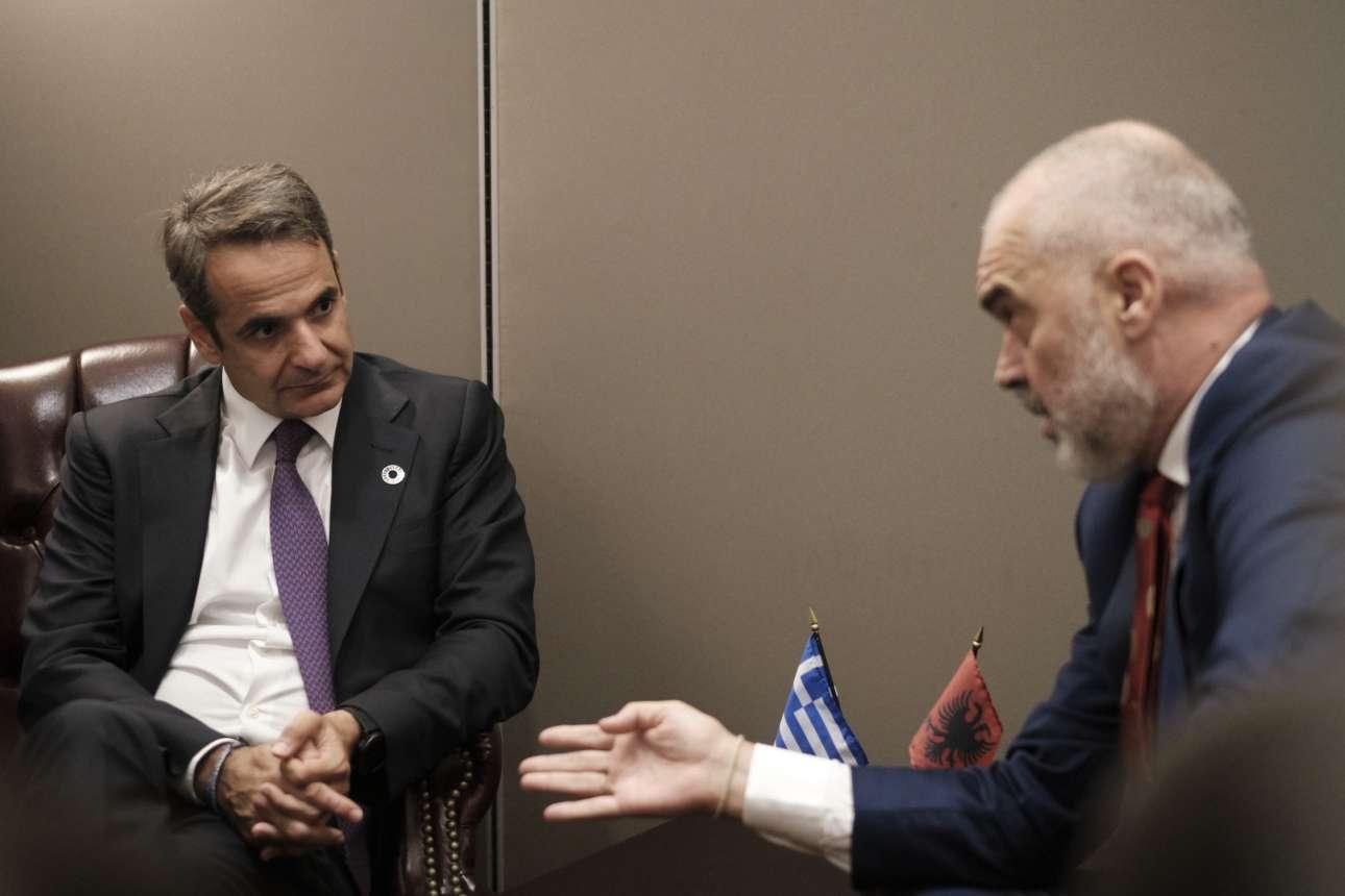 Στη συνάντηση που είχε με τον πρωθυπουργό της Αλβανίας Εντι Ράμα τη Δευτέρα 23 Σεπτεμβρίου