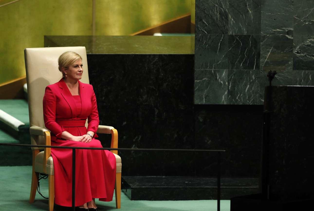 Η πρόεδρος της Κροατίας, Κολίντα Γκράμπαρ-Κιτάροβιτς