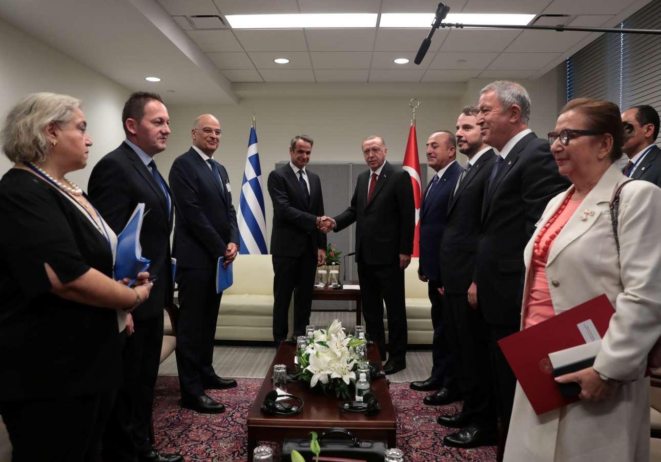 Το πολυαναμενόμενο ραντεβού με τον Ταγίπ Ερντογάν την Τετάρτη, στο περιθώριο της Γενικής Συνέλευσης του ΟΗΕ, την Τετάρτη 25 Σεπτεμβρίου