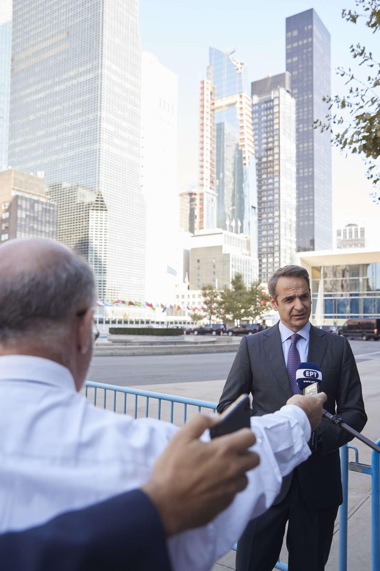 Μιλώντας σε δημοσιογράφους μετά τη συνάντησή του με τον γενικό γραμματέα του ΟΗΕ Αντόνιο Γκουτέρες