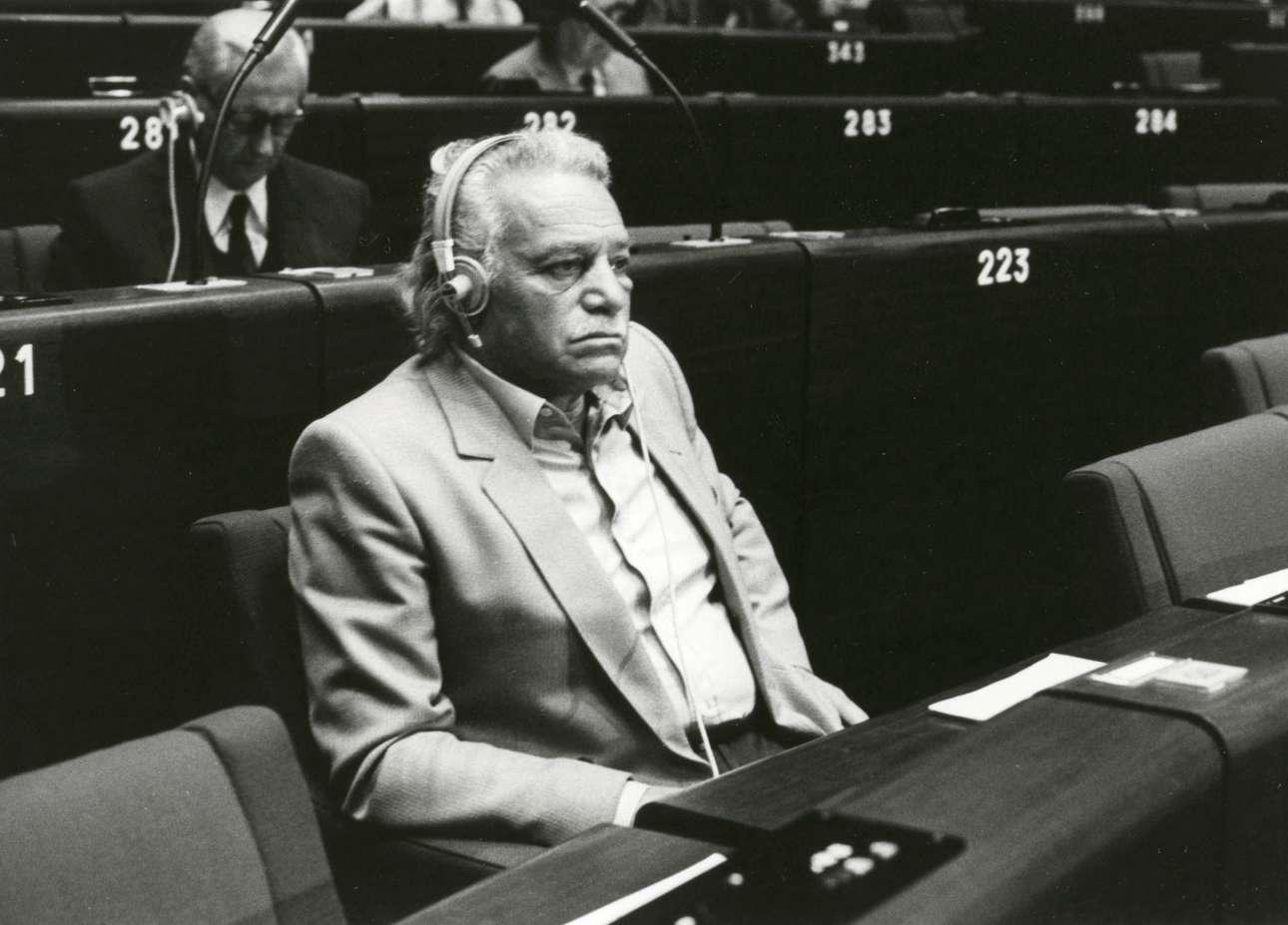Σεπτέμβριος 1984. Σε συνεδρίαση της ολομελείας του Ευρωκοινοβουλίου