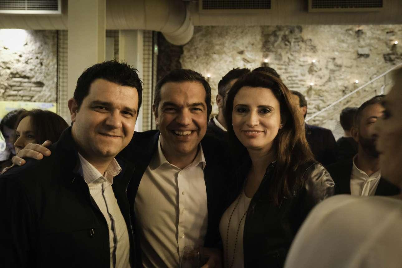 O πρόεδρος με τον Μάριο Κάτση, βουλευτή Θεσπρωτίας και τη Νίνα Κασιμάτη, βουλευτή Β' Πειραιώς