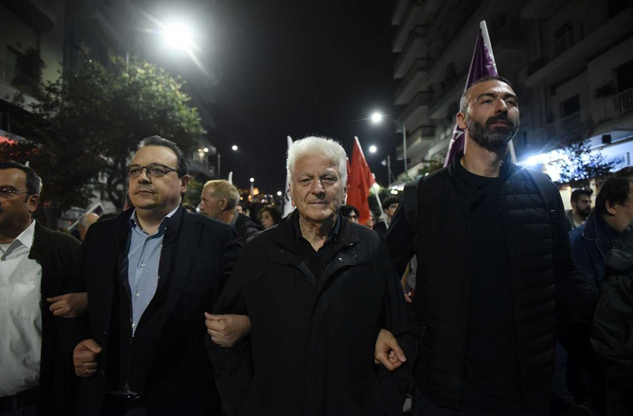 Και τελευταίοι αλλά όχι έσχατοι: Από αριστερά Σωκράτης Φάμελλος, Τριαντάφυλλος Μηταφίδης και Αλέξανδρος Νικολαΐδης