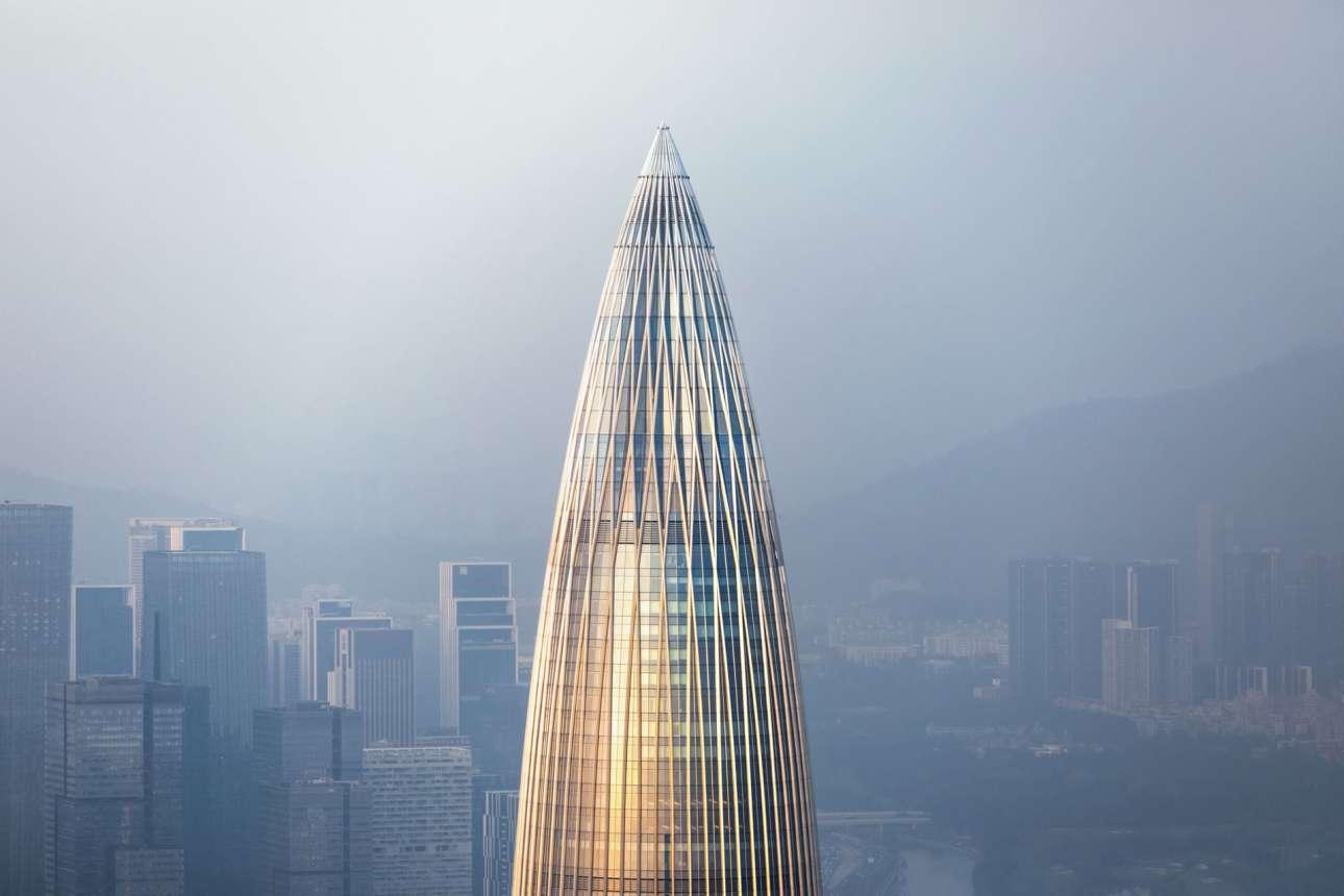 «China Resources Headquarters», Σενζέν, Κίνα, γραφείο Kohn Pedersen Fox, στην κατηγορία «Εξωτερική όψη»