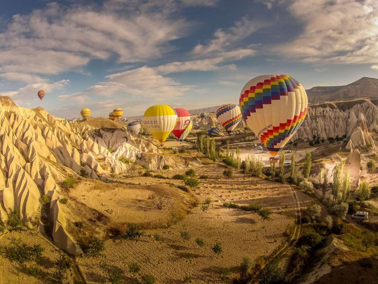 Βόλτα με αερόστατα στην Καππαδοκία, στην Τουρκία