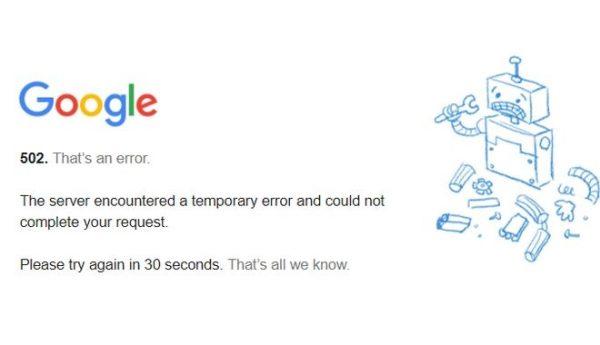 Επεσε το Google για εκατομμύρια χρήστες