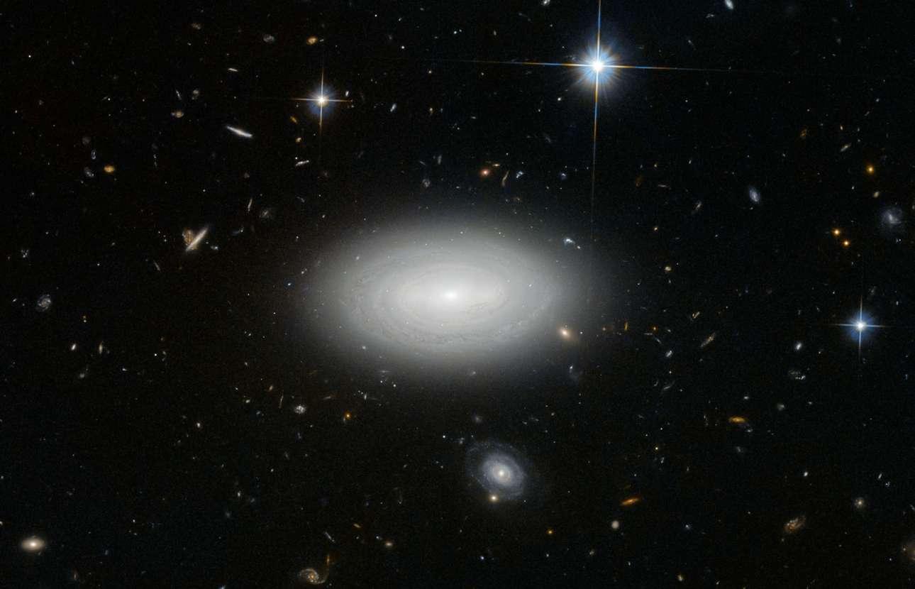 «O μοναχικός γαλαξίας». MCG+01-02-015 είναι ένας λαμπρός σπειροειδής γαλαξίας ο οποίος αποκαλείται «γαλαξίας του κενού» επειδή όχι μόνο δεν ανήκει σε κάποιο γαλαξιακό σμήνος αλλά επειδή στέκεται μόνος του σε ένα σημείο του Σύμπαντος όπου απουσιάζει οποιαδήποτε κοσμική δομή και το μόνο που υπάρχει είναι το απόλυτο κενό. Το Hubble φυσικά δεν έχασε την ευκαιρία να τον φωτογραφήσει.