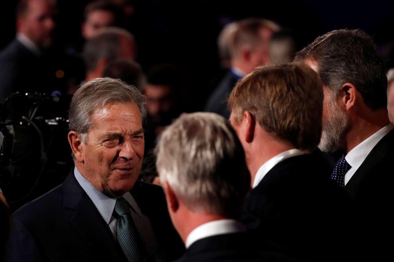 Ο πρόεδρος του Μαυροβουνίου Μίλο Τζουκάνοβιτς (αριστερά) πήγε και αυτός στην εκδήλωση της Ιερουσαλήμ για την επέτειο απελευθέρωσης του Αουσβιτς