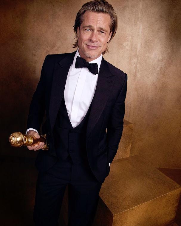 Ο Μπραντ Πιτ με τη δεύτερη Χρυσή Σφαίρα της καριέρας του. Είκοσι τρία χρόνια μετά τους «Δώδεκα Πιθήκους» τιμήθηκε για τον ρόλο του στο «Κάποτε στο Χόλιγουντ»