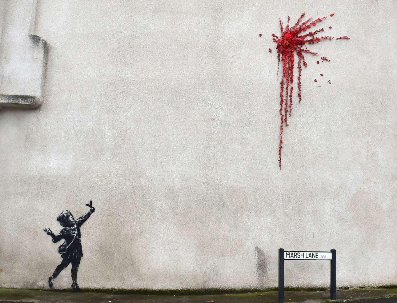 Βρετανία: νέα τοιχογραφία από το χέρι του καλλιτέχνη Banksy εμφανίστηκε, αυτή τη φορά στο Μπρίστολ