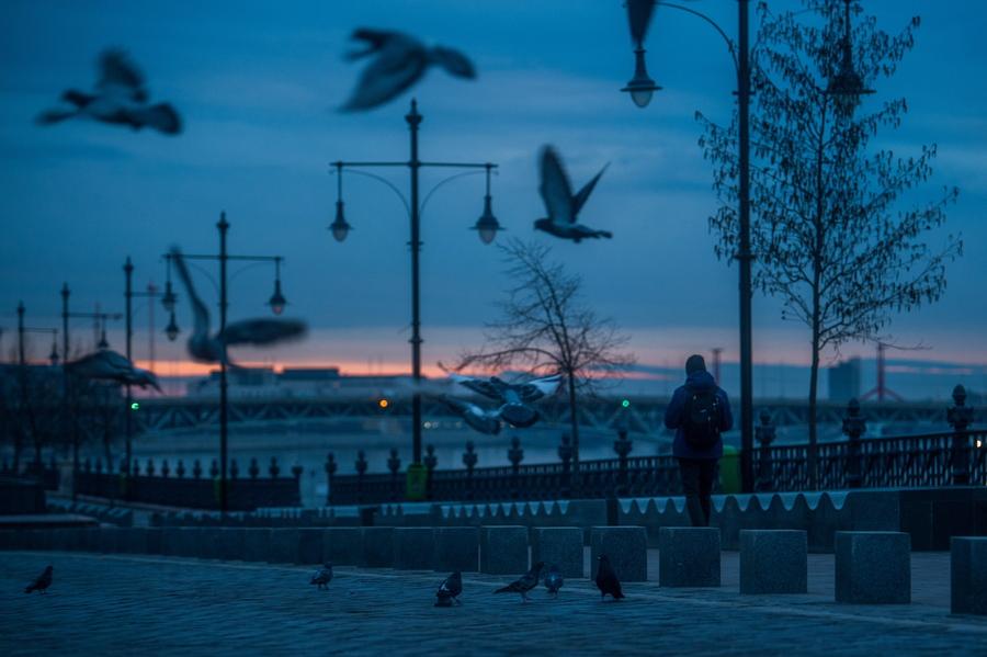 Ουγγαρία: Ενας ρομαντικός περίπατος στο σούρουπο είναι ό,τι αρμόζει στον χειμερινό μοναχικό διαβάτη, ακόμη και αν αφήνει ατάιστα τα περιστέρια της Βουδαπέστης