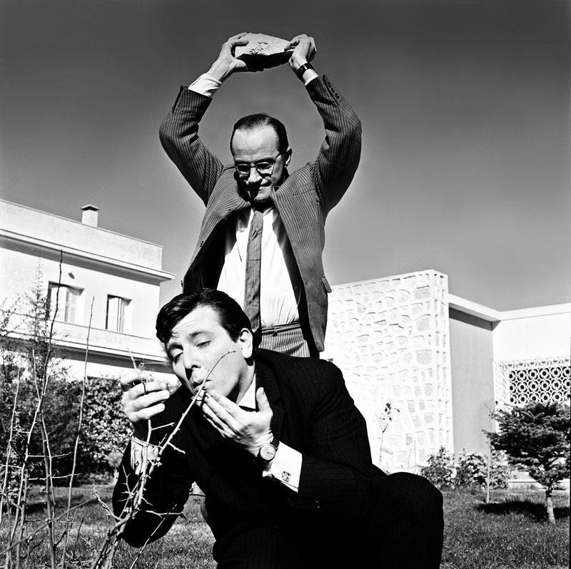 Με τον Ντίνο Ηλιόπουλο στην ταινία «Ο φίλος μου ο Λευτεράκης» (1963) του Αλέκου Σακελλάριου
