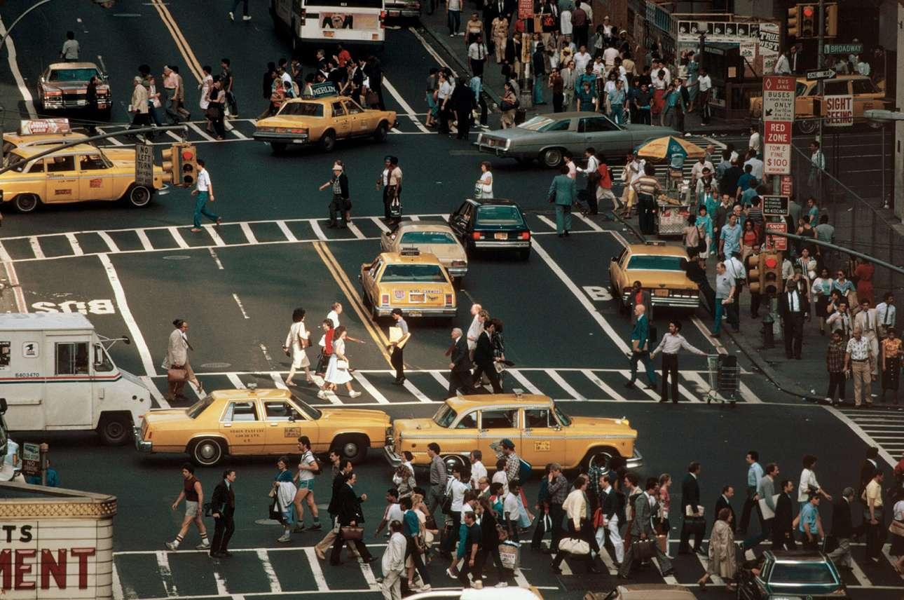 Κίνηση στην Τάιμς Σκουέαρ της Νέας Υόρκης, το 1983
