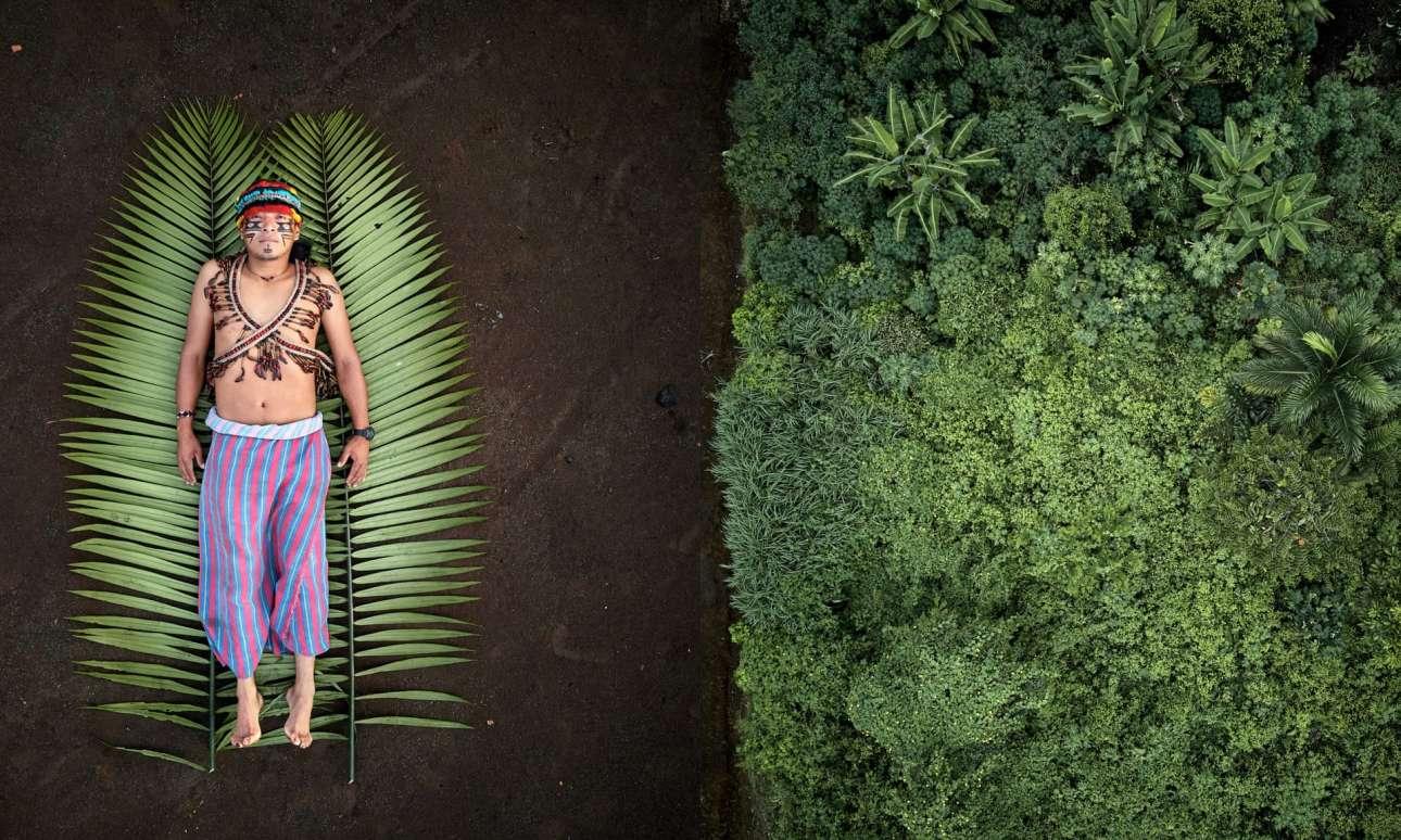 Φωτογραφισμένοι  από πάνω, οι κύριοι χαρακτήρες του Αλμπαρέγκα απεικονίζονται σαν να δίνουν τη ζωή τους για τη γη τους. Το project του Αλμπαρέγκα εξερευνά αυτόχθονες και τα εδάφη τους, ιερές περιοχές όπου είναι θαμμένοι οι πρόγονοί τους