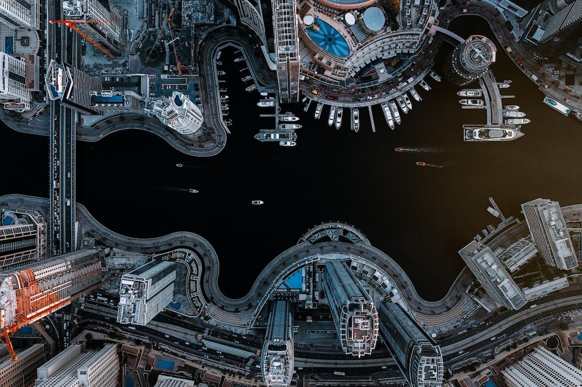 Η μαρίνα του Ντουμπάι από ψηλά