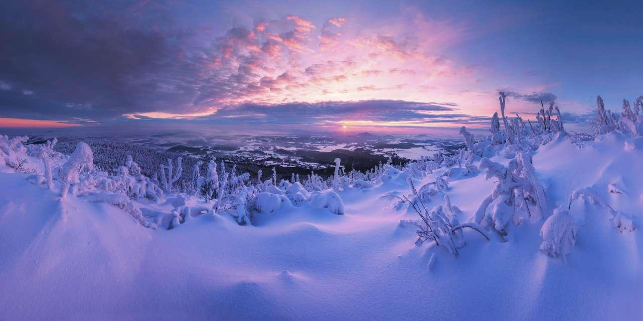 Μοιάζει με σκηνικό παραμυθιού και είναι μια λήψη από την Γιέστεντ, την υψηλότερη βουνοκορφή της Τσεχίας. Η φωτογραφία με τίτλο «Γη των Θαυμάτων» εντυπωσίασε την επιτροπή αλλά και το κοινό