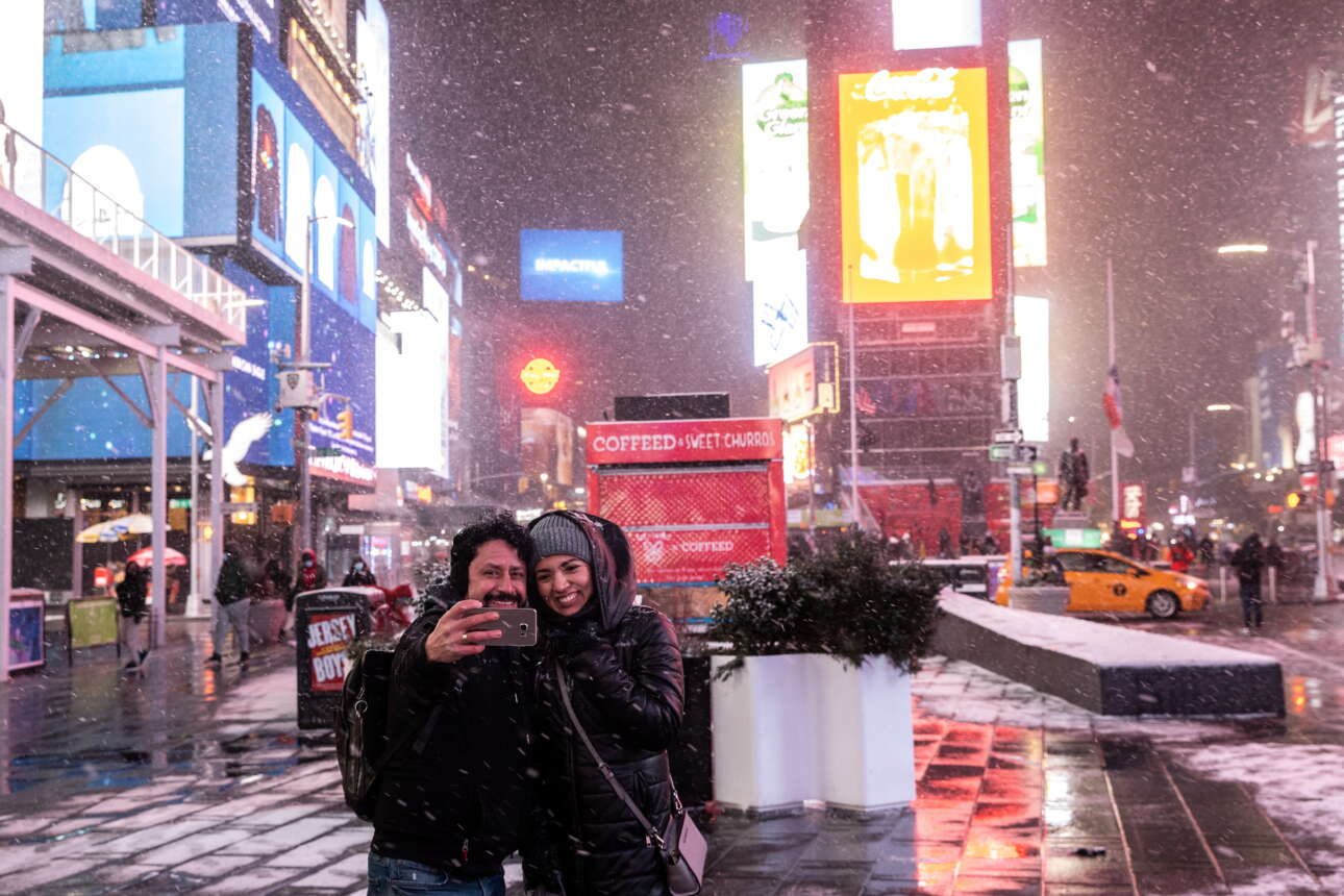 Παγωμένες σέλφι στην καρδιά της Νέας Υόρκης