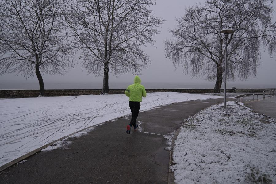 Ιωάννινα. Για τους φανατικούς της άθλησης, το χιόνι δεν είναι πρόβλημα
