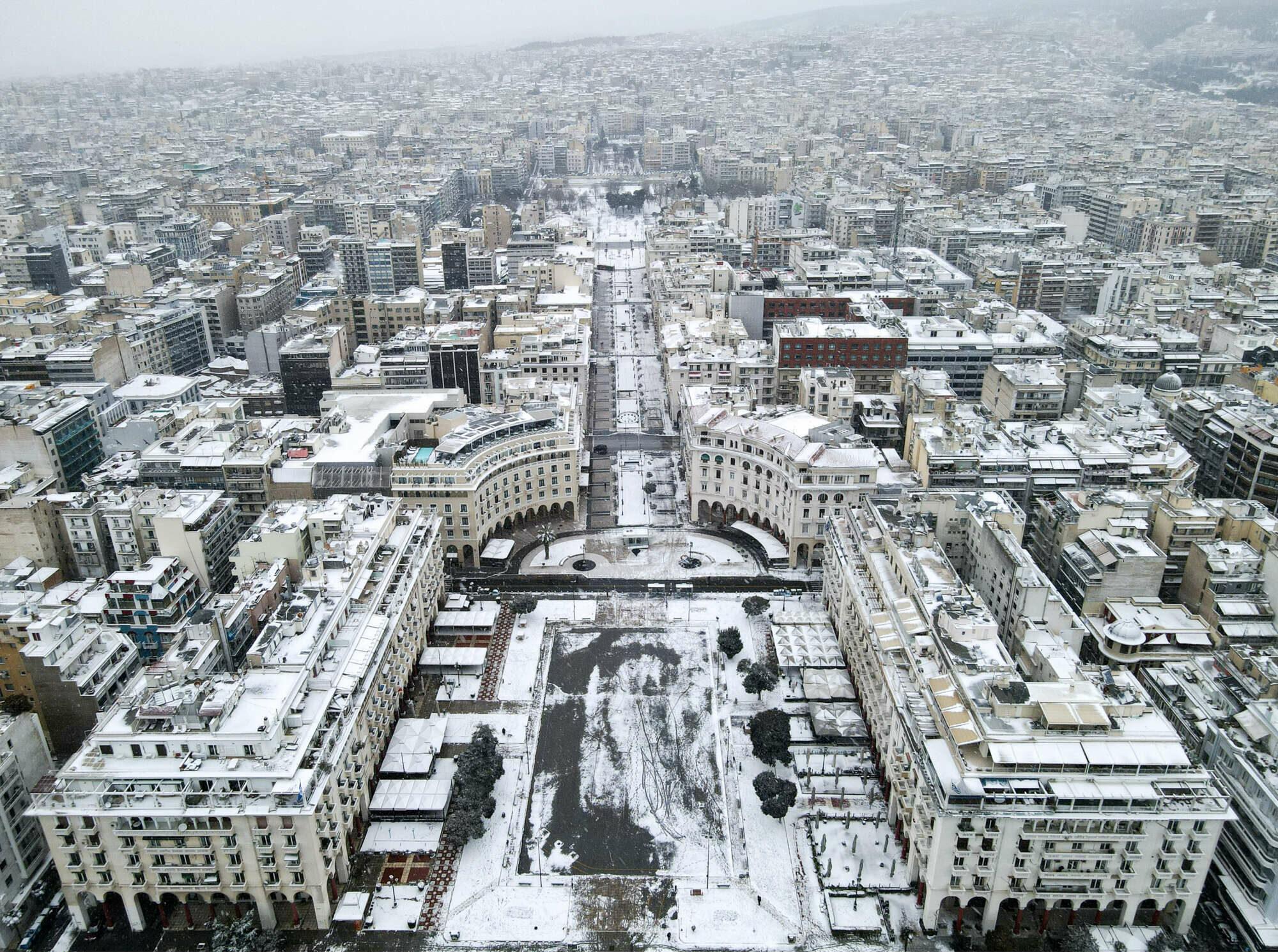Θεσσαλονίκη. Η πλατεία Αριστοτέλους από ψηλά