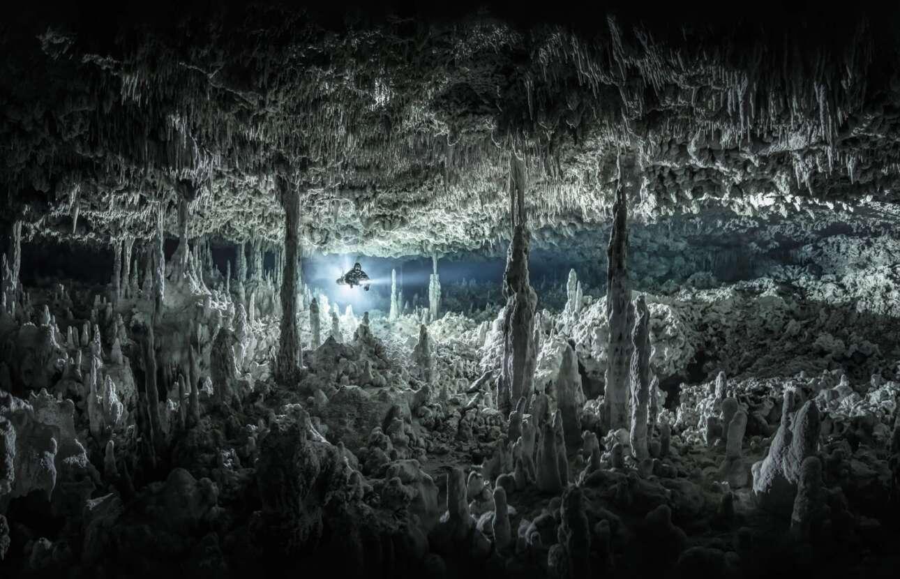«Γοτθικός Θάλαμος». Την δεύτερη θέση στην κατηγορία «Ευρεία Γωνία» πήρε μια φωτογραφία από την Riviera Maya, το μεγαλύτερο σύστημα υπόγειων ποταμών στον κόσμο που βρίσκεται στο Μεξικό. Στο σύστημα αυτό υπάρχουν ατελείωτα τούνελ και εντυπωσιακές αίθουσες που η φυσική τους διακόσμηση τα καθιστά μοναδικά!