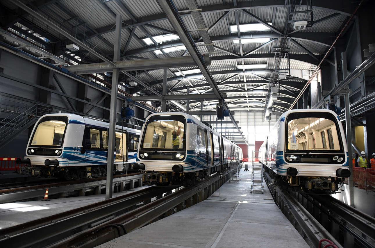 Το αμαξοστάσιο του μετρό της Θεσσαλονίκης. Και σε αυτό το έργο η συμμετοχή της Ευρωπαϊκής Ένωσης ήταν καταλυτική