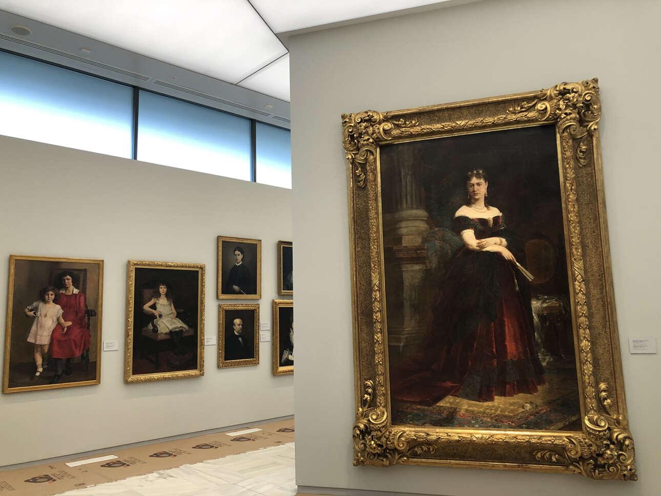 Νικηφόρος Λύτρας, «Προσωπογραφία της κυρίας Σερπιέρη», 1869