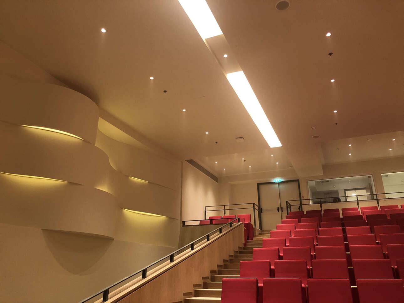 Το νέο αμφιθέατρο, 450 θέσεων, στο υπόγειο της «νέας» Εθνικής Πινακοθήκης