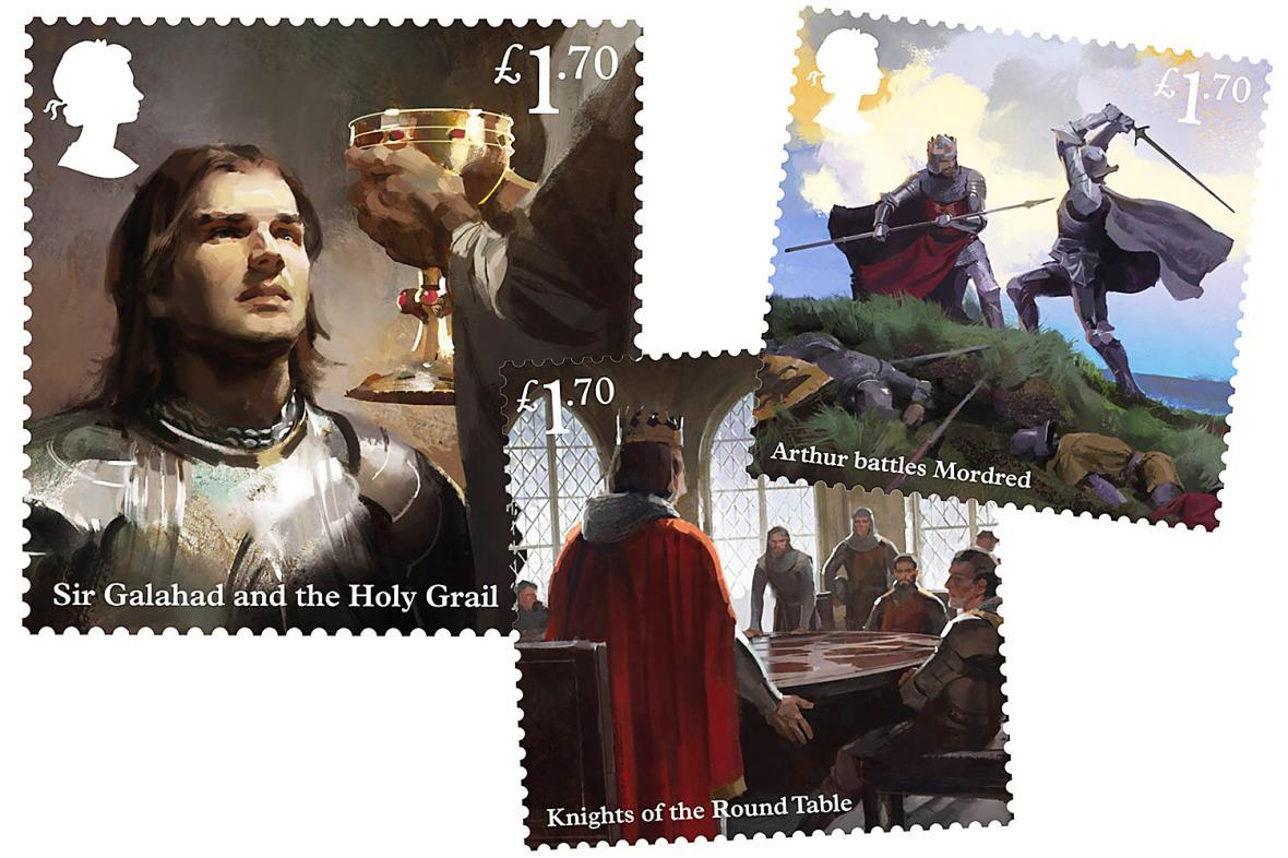 Too British. Καλό το email, αλλά σαν το Royal Mail… δεν έχει! Να τα τρία καινούργια γραμματόσημα του Ηνωμένου Βασιλείου, που κυκλοφόρησαν παράκαιρα αφού τα Χριστούγεννα πέρασαν: σκηνές από τις περιπέτειες του Βασιλιά Αρθούρου…
