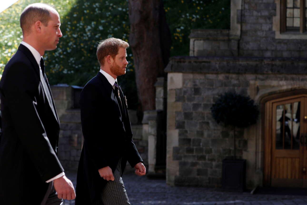 Οι πρίγκιπες Γουίλιαμ και Χάρι στο τελευταίο αντίο του παππού τους, Φιλίππου