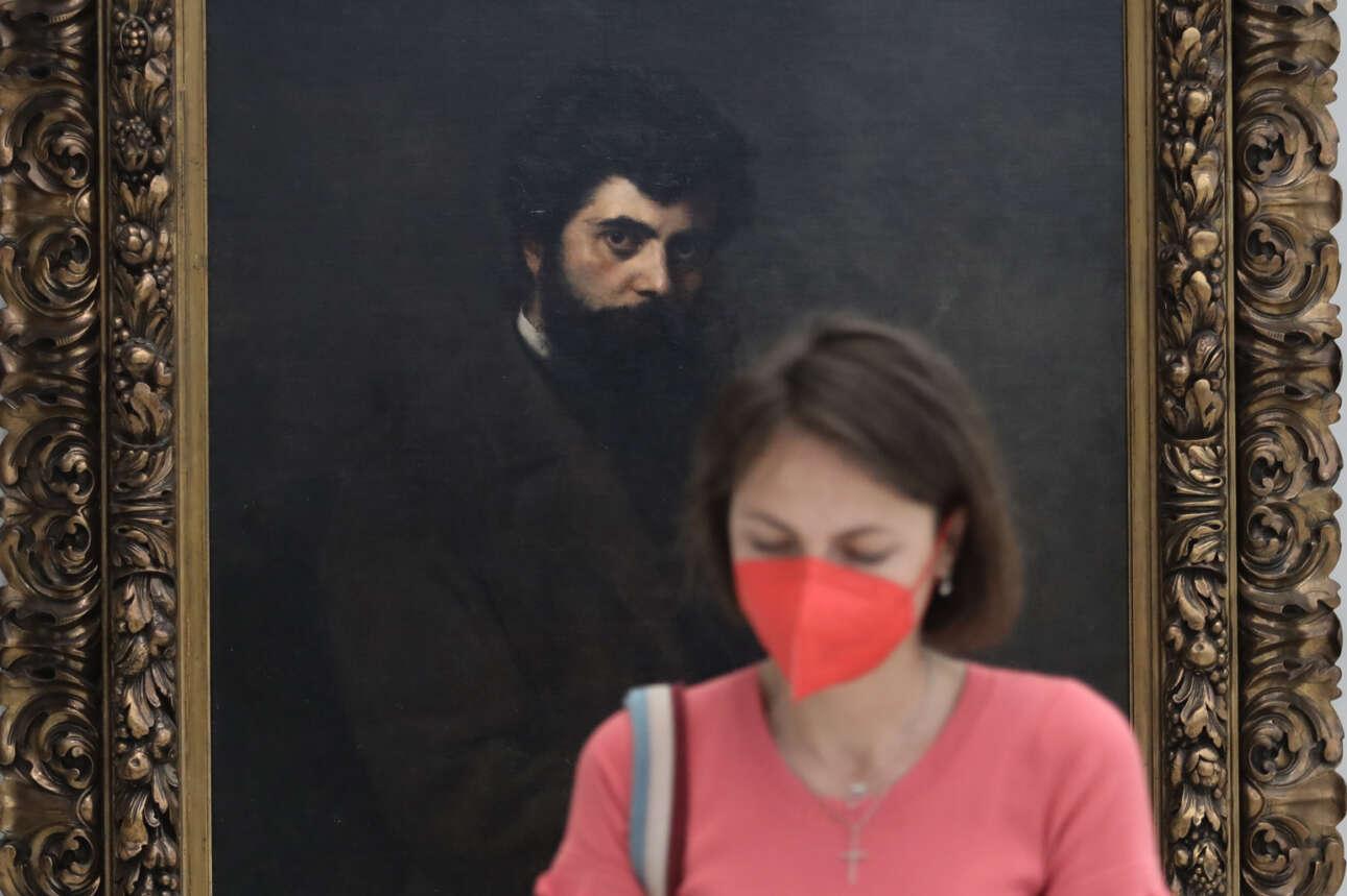 Στιγμιότυπο από την Εθνική Πινακοθήκη, στο κέντρο της Αθήνας, που ανακαινίστηκε και δέχθηκε και πάλι επισκέπτες ύστερα από εννέα χρόνια