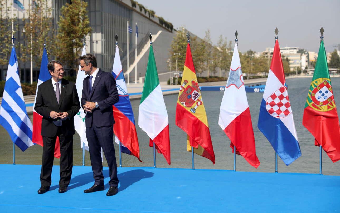 Ο Κυριάκος Μητσοτάκης με τον πρόεδρο της Κύπρου Νίκο Αναστασιάδη