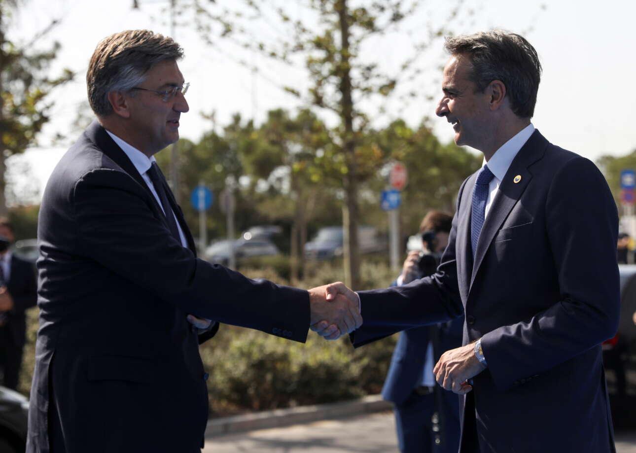 Το καλωσόρισμα στον πρωθυπουργό της Κροατίας Αντρέι Πλένκοβιτς