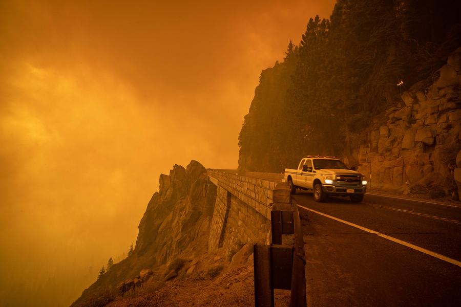 Ο Αυτοκινητόδρομος 50 απειλήθηκε και αυτός από την πυρκαγιά
