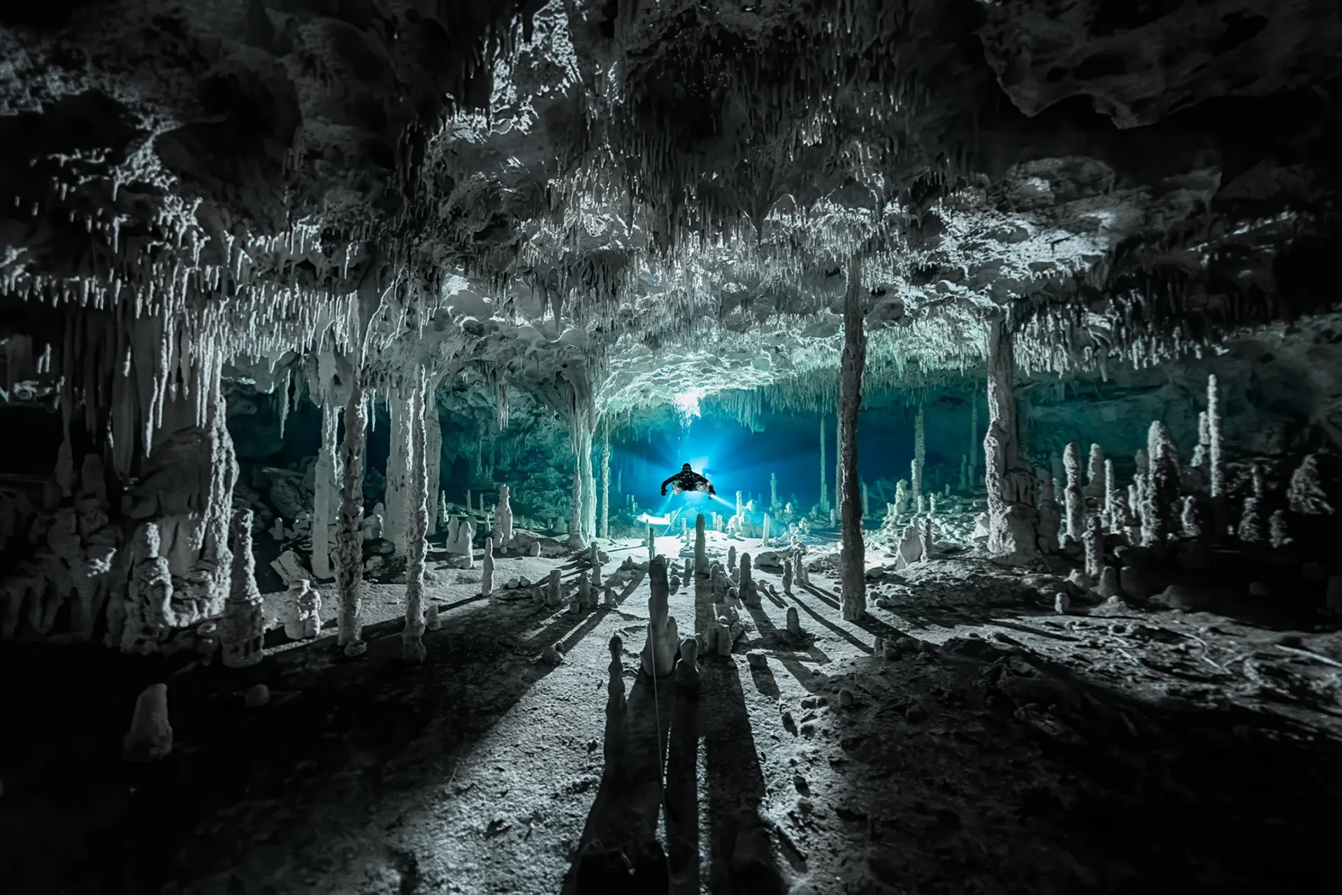Πρώτο βραβείο στην κατηγορία «Εξερευνητής Φωτογράφος» πήρε η εξερεύνηση αυτού του υποθαλάσσιου σπηλαίου στο Μεξικό