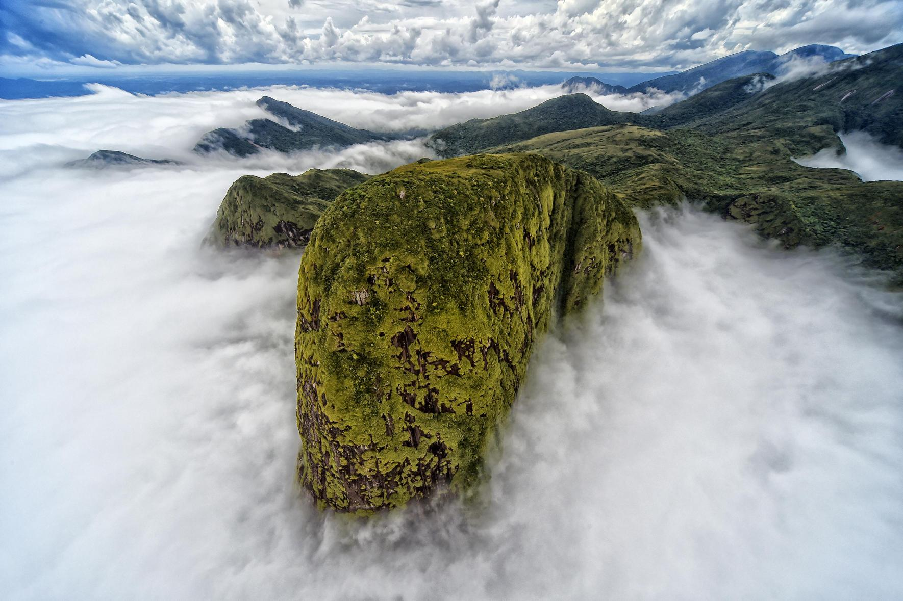 Τη δεύτερη θέση για την κατηγορία Τοπίο κατέκτησε ο Denis Ferreira Netto από τη Βραζιλία. «Σε μια πτήση με ελικόπτερο εκεί που η οροσειρά καταλήγει στη θάλασσα συνάντησα αυτό το λευκό πέπλο σύννεφων, το οποίο είχε ως αποτέλεσμα αυτή την υπέροχη εικόνα. Μου θύμισε το κεφάλι ενός δεινοσαύρου», είπε ο ίδιος
